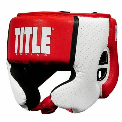 NIP Lonsdale Amateur Competition Headgear Head Guard US Boxing Specs Red Size XL