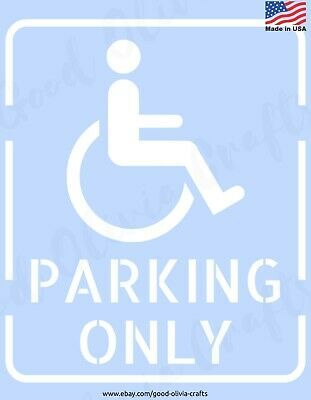 HANDICAP PARKING ONLY Sign - Reusable Stencil Clear Template - DIY SPRAY PAINT