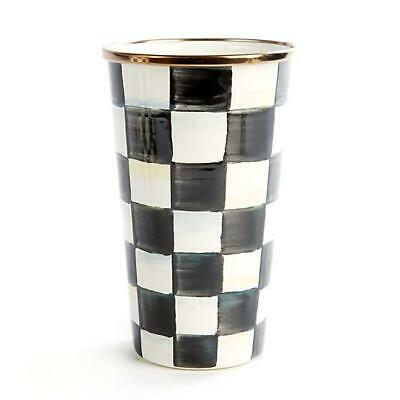 Mackenzie Childs    Courtly Check Enamel Tumbler - 20 Ounce  New