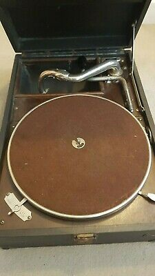 HMV 101 Wind Up Gramophone Fully Working With Box of Unused Needles