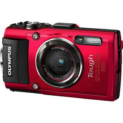 Olympus Stylus TOUGH TG-4 16MP Digital Camera 4x Optical Zoom (Red) NEW #CR