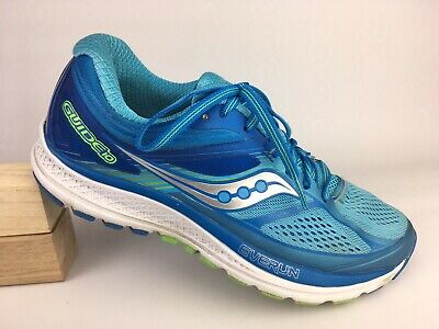 5e9a1f24 Saucony Guide 10 Women Blue Silver Green S10350-1 Running Shoes Sz 8.5 US 40
