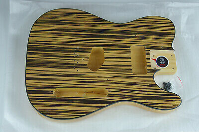 Voodoo Vibe Tele Telecaster Guitar BODY Edge Bound Zebra Wood Top b406