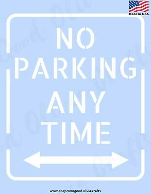 NO PARKING ANY TIME Sign - Reusable Stencil Clear Template - DIY SPRAY PAINT