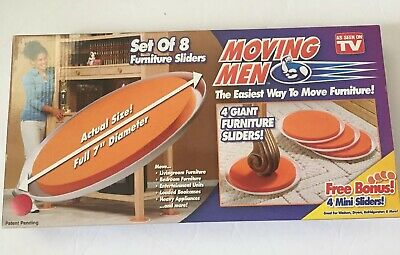 Merveilleux NEW Moving Men Set Of 8 Furniture Sliders (4 Giant 4 Mini Sliders) As
