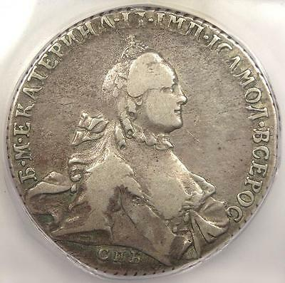 1764 Russia Rouble KM-67.2a - ICG F15 - Very Rare Early Certified Coin