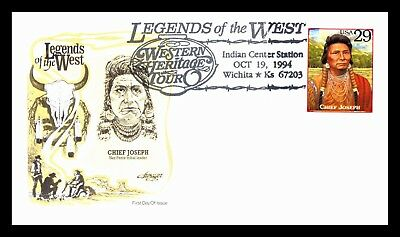OAS-CNY 2248 FDC SCOTT 2869f 1994 29c CHIEF JOSEPH FREE COMBINED SHIPPING
