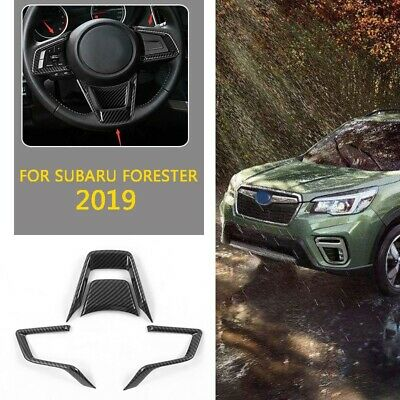 2019 For Subaru Forester ABS Orange Steering Wheel Button Frame Cover trim 3pcs