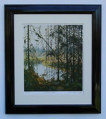 """Tom Thomson, Group of Seven """"Northern River"""" Limited Edition in Black frame"""