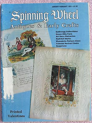 SPINNING WHEEL Magazine, Jan/Feb 1981, Antiques and Early Crafts