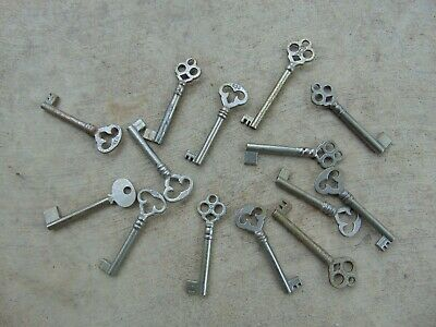 14 Old Vintage Skeleton    Key Blank Uncut               Locksmith