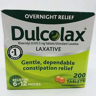 Dulcolax Laxative Tablets (Bisacodyl USP 5mg), 200 Coated Tablets EXP 7/20