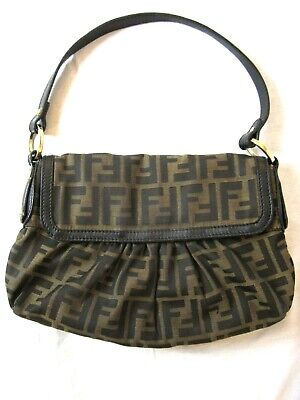 dea6f806c767 RARE VINTAGE FENDI Zucca Chef Canvas Monogram Ff Shoulder Bag ...