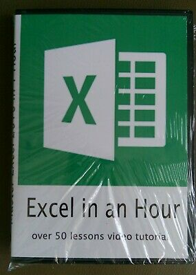 Factory Sealed DVD - Master Microsoft Excel 2016 in 1 Hour with over 50 videos