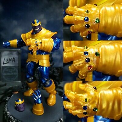 CUSTOM Marvel Legends * THANOS walmart exclusive * Swarovski Infinity Gauntlet