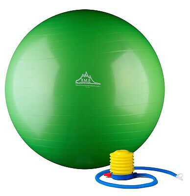Black Mountain Products Static Strength Exercise Stability Yoga Ball Green