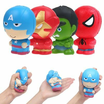 Funny Toys Spider-Man Captain America Slow Rising Squishies Squishy Squeeze Toys