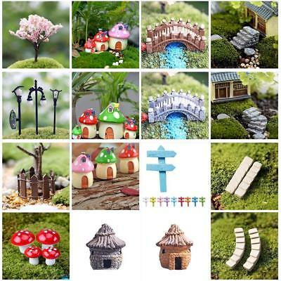 Miniature Fairy Garden Ornament Decor Pot DIY Craft Accessories Dollhouse NEW DI