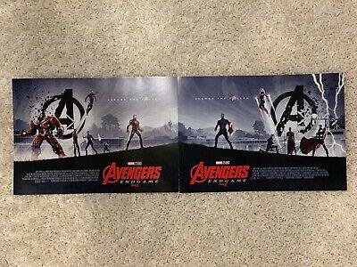 Avengers Endgame AMC IMAX mini poster set of 2 posters. Both Week 1 And Week 2