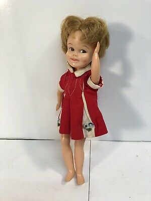 VINTAGE 1960's DELUXE READING CORP PENNY BRITE DOLL WITH DRESS