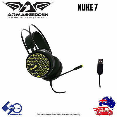 PC Computer USB Wired Headset with Microphone Game/Office Surround Sound NUKE 7