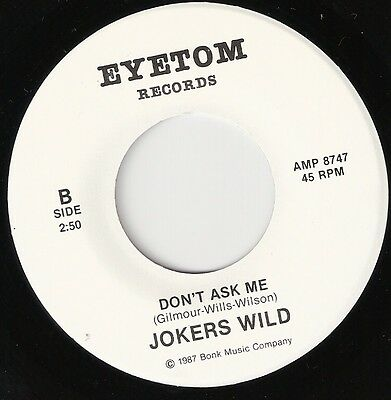"""Jokers Wild 7"""" Dont Ask Me Pink Floyd David Gilmour Very Rare Ltd Pressing Dave"""