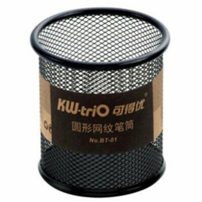BT-01 Round Metal Fashion Mesh Pen Holder With Sponge Base To Protect The Tip SH