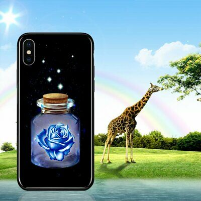 Luminous Glasses Phone Cases Space Night Shine Glass Case for iPhone XS SH