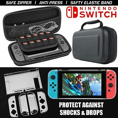 For Nintendo Switch Hard Case Travel Bag + Clear Case Cover UK
