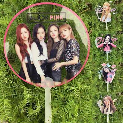 Kpop Blackpink Jennie Jisoo Portable Clear PVC Hand Fan Lisa Rose Summer Gift UK