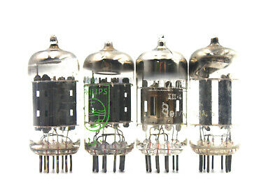 ECC83 12AX7 Valvo D, Mazda Silver, Philips Tube Valve, USED for collecting only!