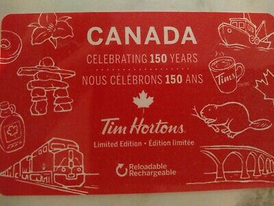 Collectable Tim Hortons Canada 150 Years Gift Card #Fd56632..No Monatary Value