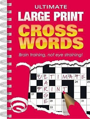 Ultimate Large Print Crosswords: Red Cover by Staff of Hinkler Books