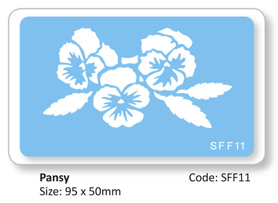 JEM PANSY SPRAY Flower Cake Decorating Stencil Sugarcraft Decoration Baking