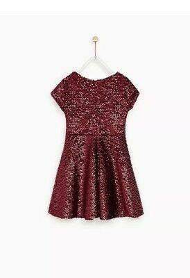 Zara Girls Red Sequin Party Dress New. With Tags Age 13-14 Years