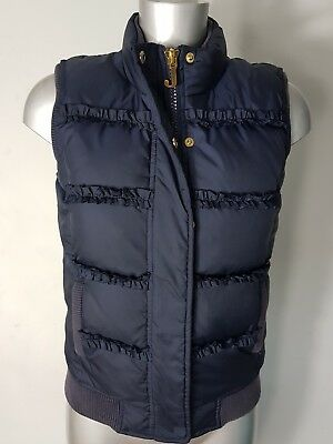 Pauls Boutique Girls Navy Blue Quilted Gilet Puffer Jacket Coat Age 14 Years