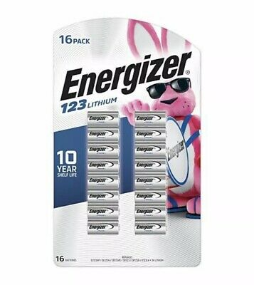 Energizer Lithium CR123 Battery for Arlo Reolink security cameras 12 Pk Exp 2029