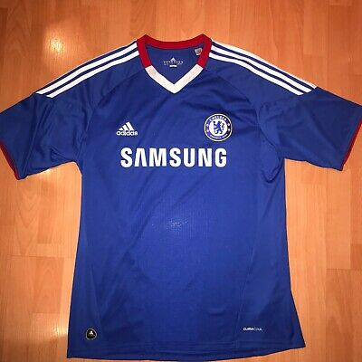 5a2adcb4cb0 Adidas ClimaCool 2010 Chelsea FC Samsung Men's Blue Home Soccer Jersey Size  L