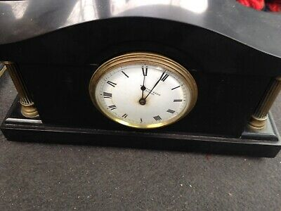 Antique Mantle Clock Heavy Slate  Or Marble Whytock & Sons  Dundee Made In Franc