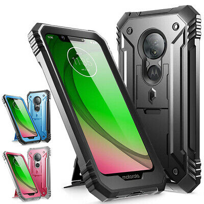 Moto G7 Play Kickstand Rugged Case, Poetic Full-Body Heavy Duty Rugged Case