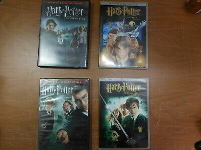 Harry Potter dvd Movies lot of 4 dvds 1 brand new 3 used