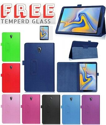 """Tempered+ Leather Flip Case Stand Cover For Samsung Galaxy Tab A 10.5"""" T590 T595"""