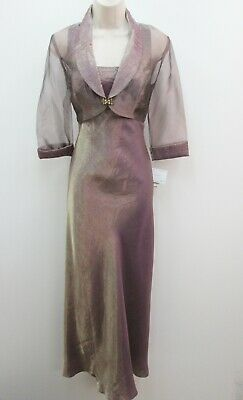 98934f55a79 Alex Evenings Petite Amber Iridescent 2pc Mother Bride Groom Formal Gown  Size 8P