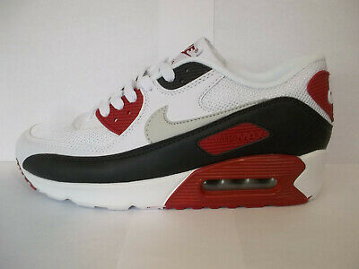 new products e0649 49f30 MENS NIKE AIR MAX 90 TRAINERS UK 6 EUR 40 WHITE BLACK RED Brand New In