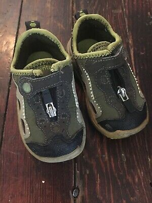 NWT Boy's Stride-Rite Holiday Plaid Plush Slippers Size 13-1 Navy Green Red