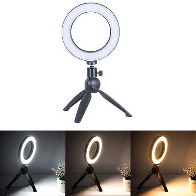 32-LED Ring Flash Light Dimmable Photo Phone Video Light Phone Holder 10 Gears