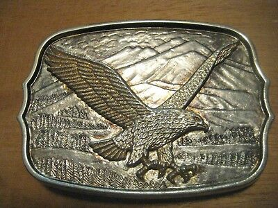 Vintage 3D Bald Eagle Brass Belt Buckle