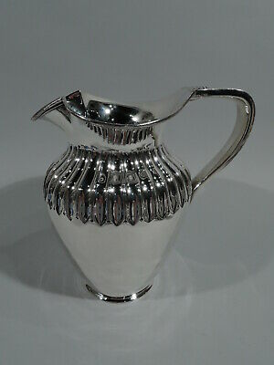 Victorian Water Pitcher - Antique Classical - English Sterling Silver - 1880