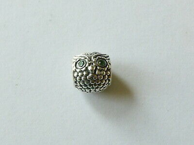 7ace830d9 Authentic Pandora Sterling Silver Wise Owl Dark Green Cz - #791211Czn