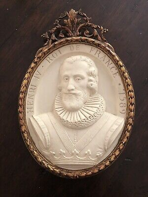 Henry IV King Of France Plaster Relief Plaque
